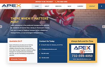 Ambulance Bootstrap Wordpress Theme Example
