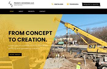 Construction Bootstrap Wordpress Theme Example