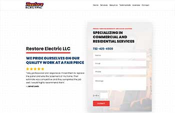 Electric Services Bootstrap Wordpress Theme Example